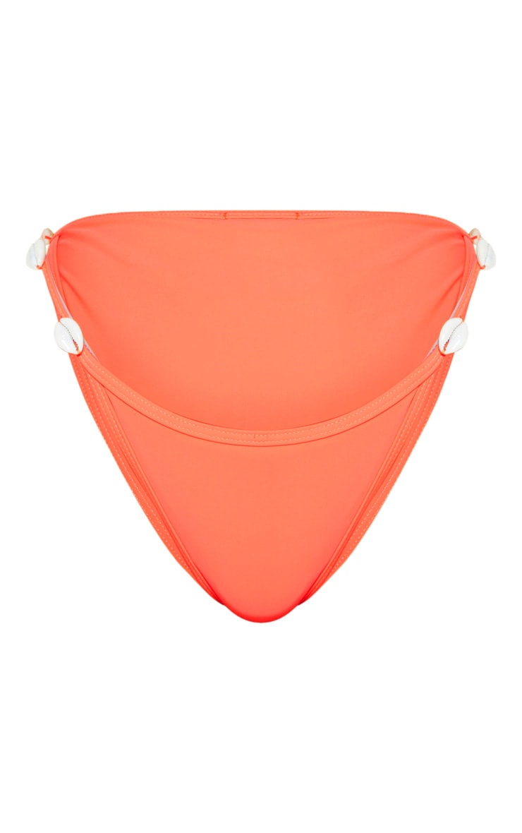 Orange Shell Trim Bikini Bottom 3