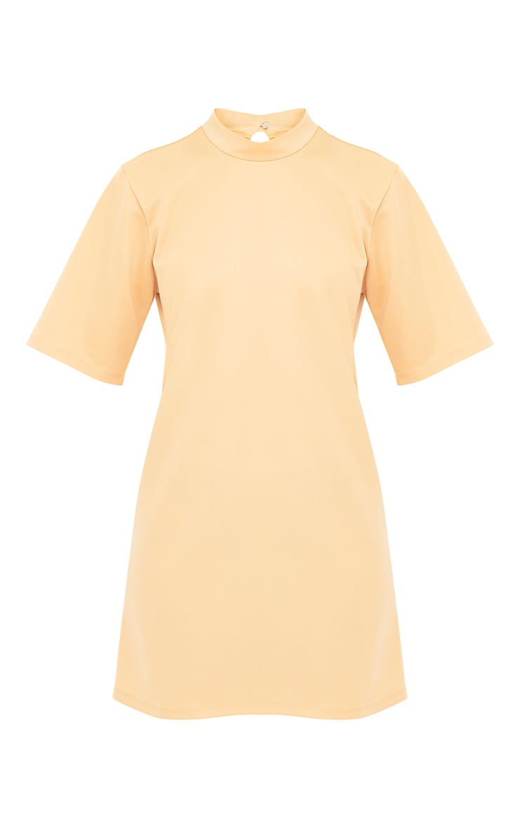 Erennie Buttermilk Scuba High Neck Shift Dress 3