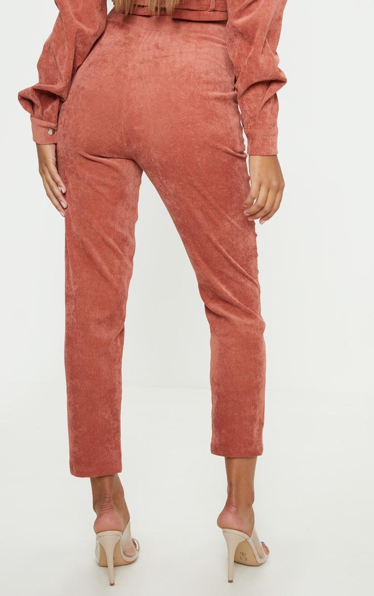 Peach Cord High Waisted Straight Leg Trouser 4