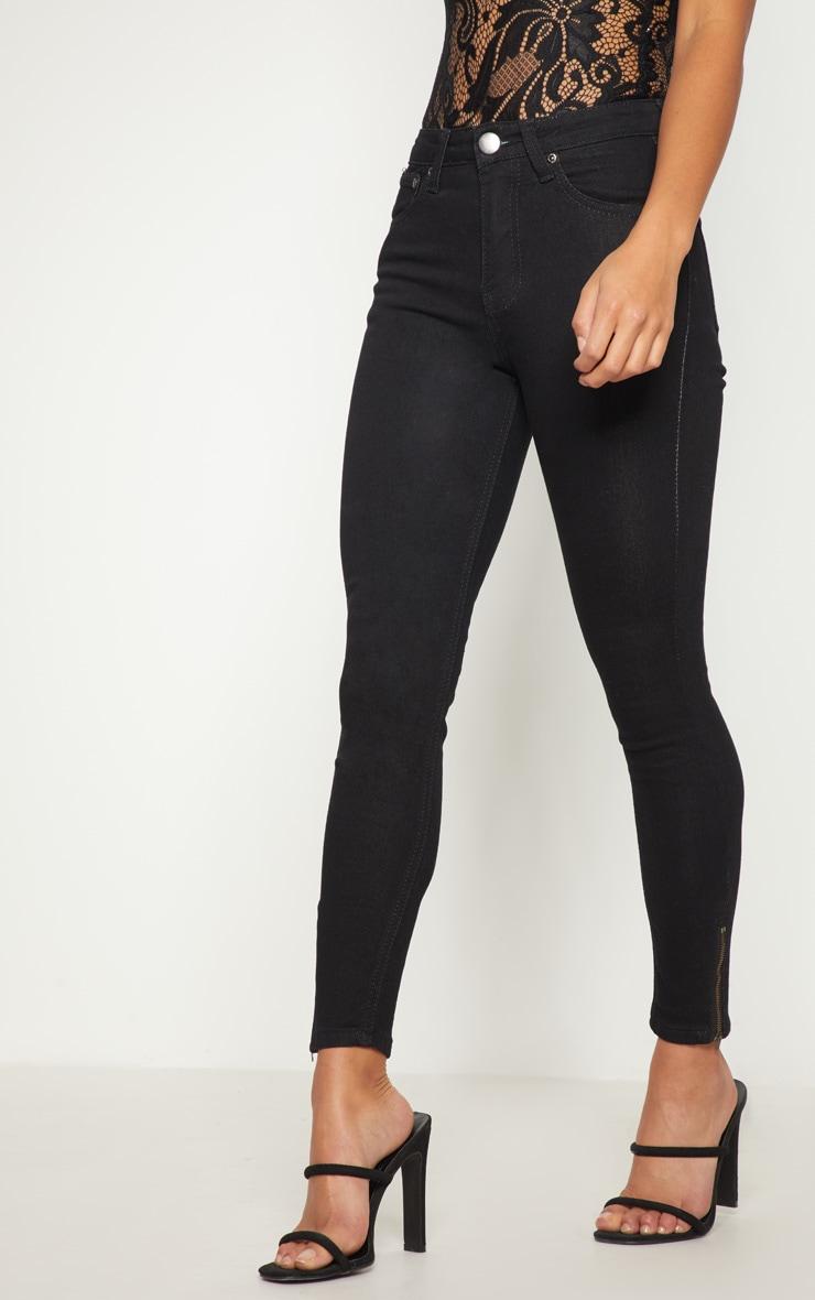 Petite jean skinny longueur chevilles noir 2