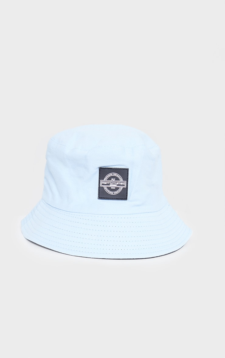 PRETTYLITTLETHING Blue Branded Bucket Hat 2