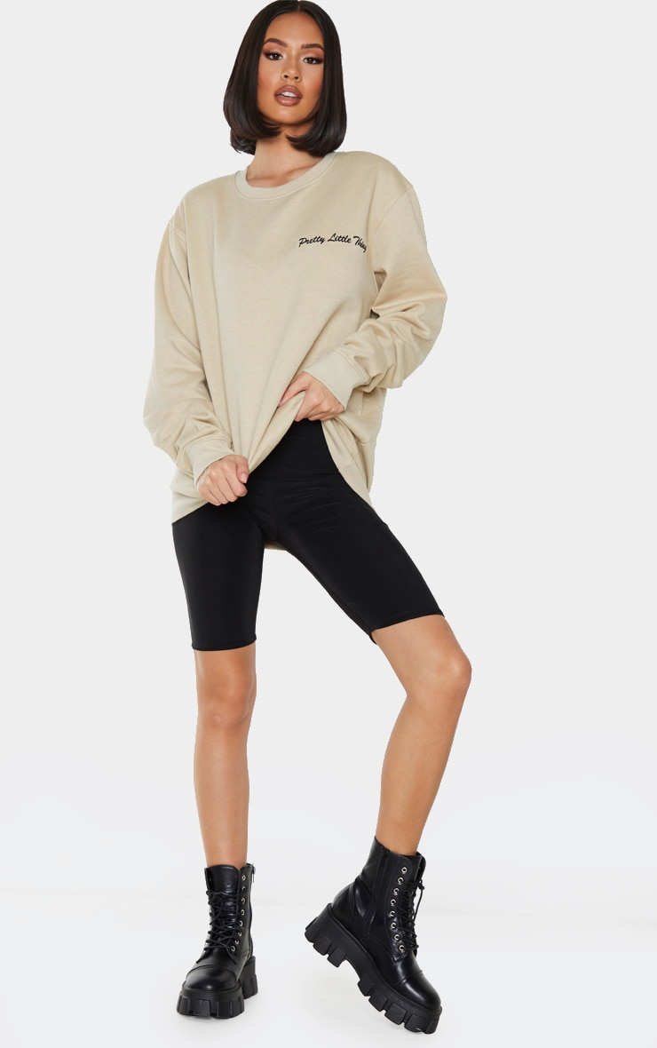 PRETTYLITTLETHING Sand Embroided Sweatshirt 3