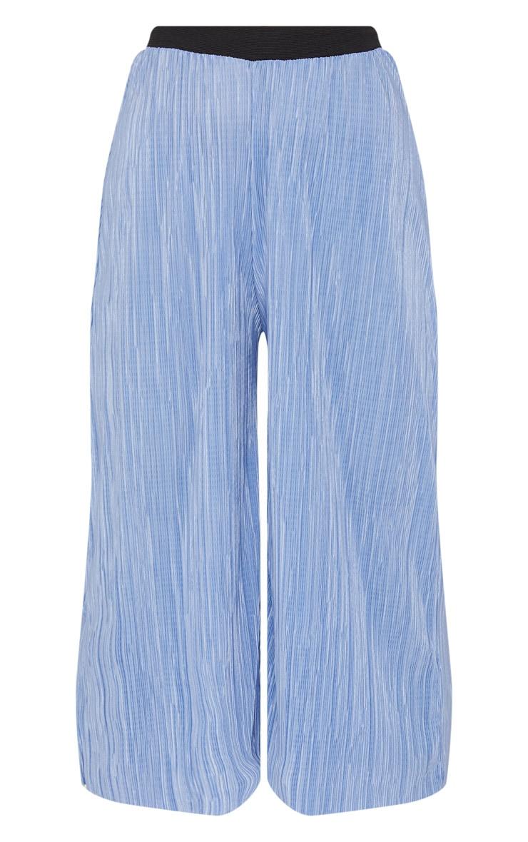 Dusty Blue Oversized Plisse Culotte 3