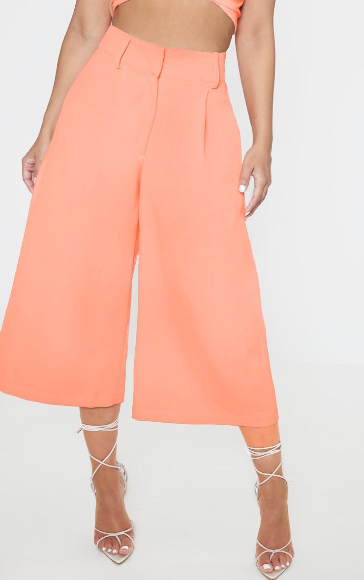 Petite Peach  High Waisted Culottes 2