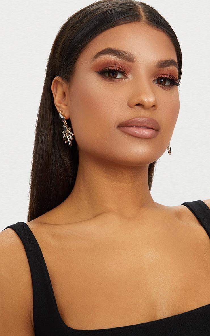 Grey Jewel Drop Earrings 2