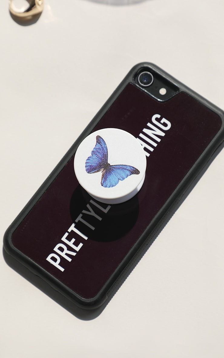 White Butterfly Phone Grip 2