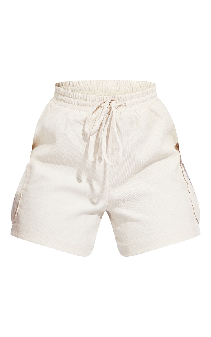 Tall Cream Light Weight Cord Pocket Cargo Short 6