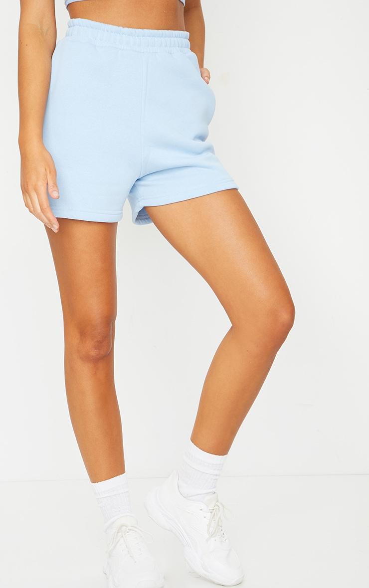 Baby Blue Sweat Pocket Shorts 2
