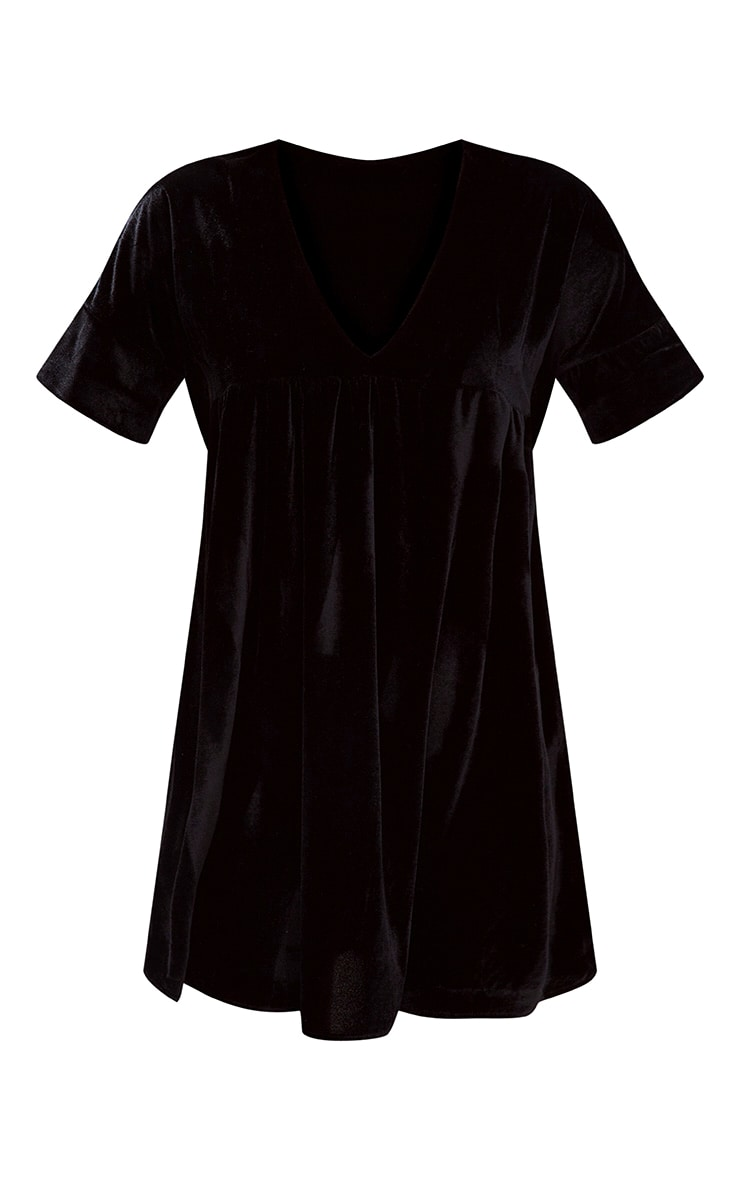 Black Velvet Smock Dress 3