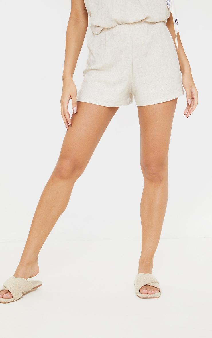 Stone Linen Floaty Shorts 2