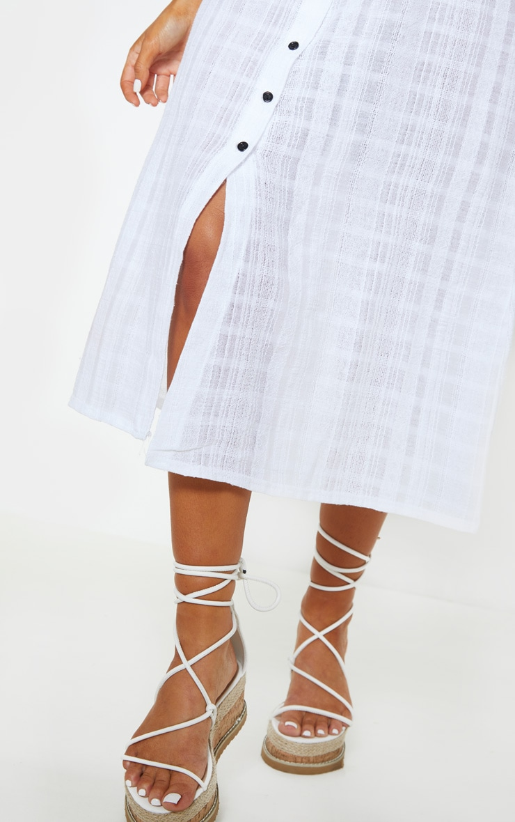 White Button Up Beach Skirt 6