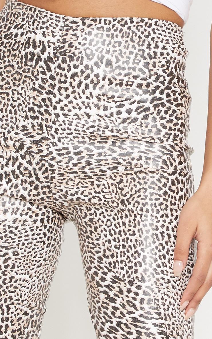 Leopard Print Faux Leather Skinny Trouser 5