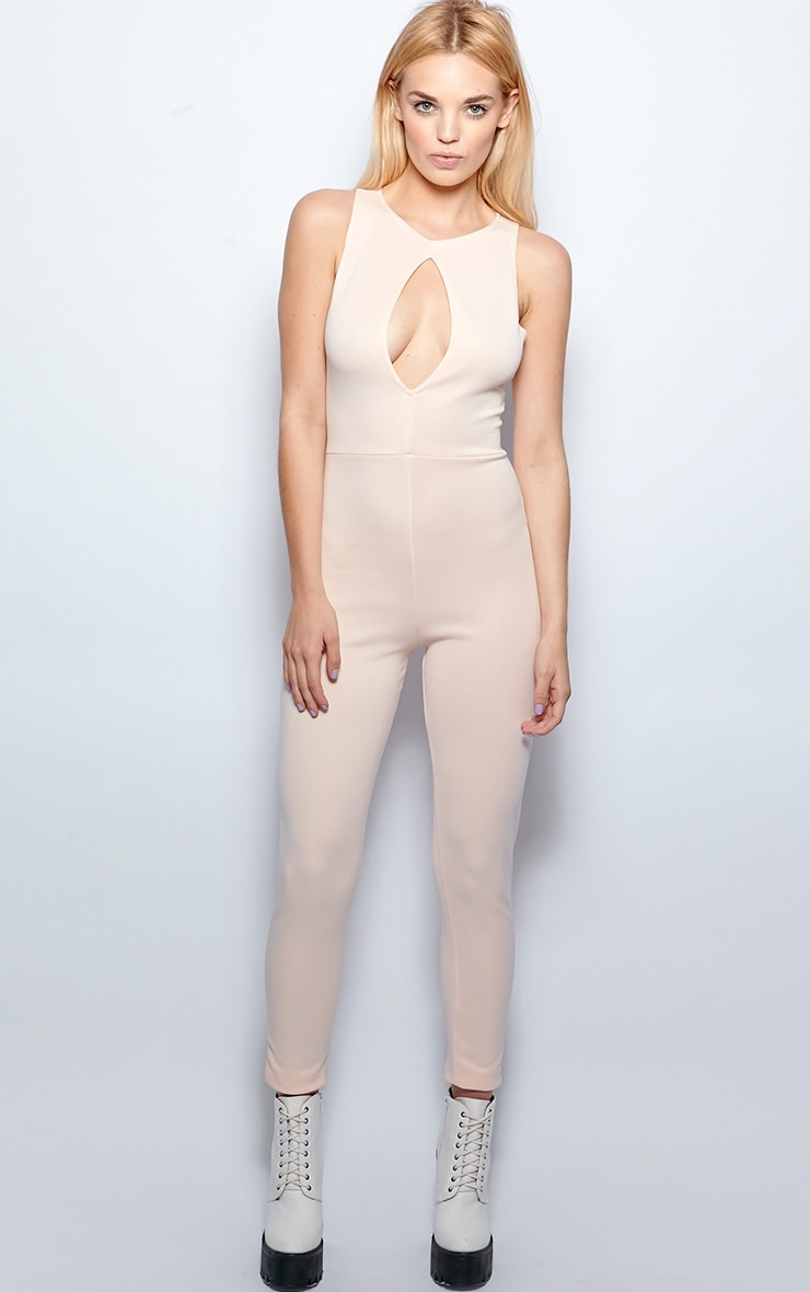 Stephanie Nude Cut Out Jumpsuit  3