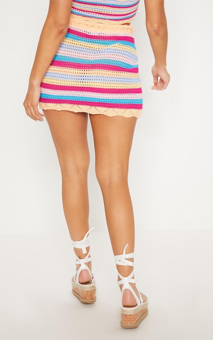Rainbow Crochet Knit Skirt 4