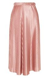 Rose Pleated Full Midi Skirt 3