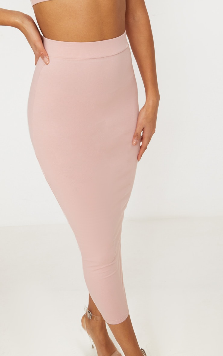 Rose Second Skin Bodycon Midaxi Skirt 5