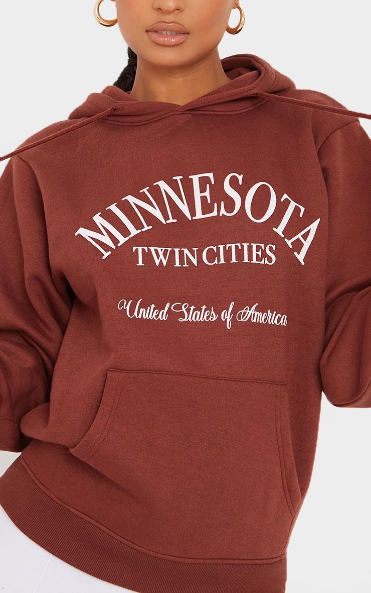 Recycled Chocolate Minnesota Twin Cities Print Hoodie 4
