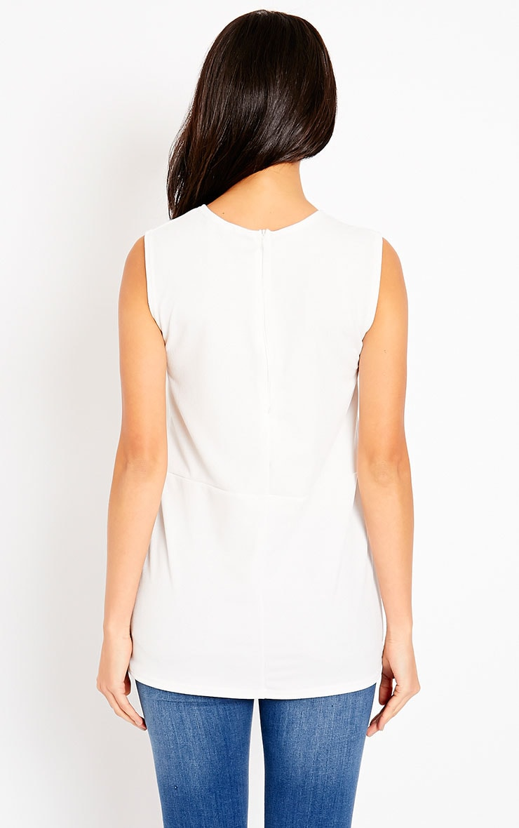 Summer White Crepe A-Line Tunic 2