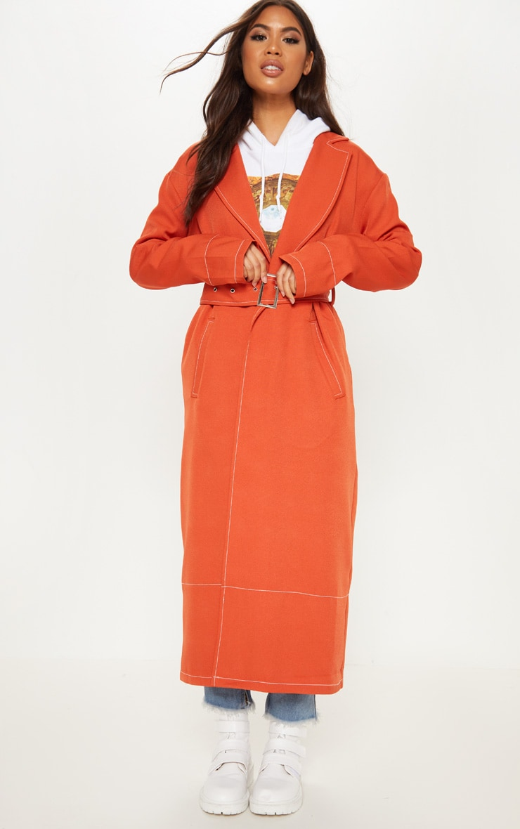 Rust Belted Trench 4