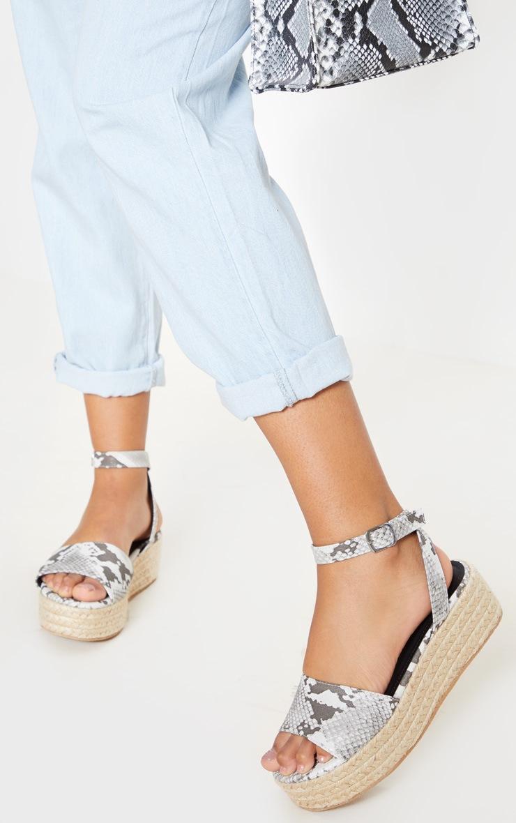 2f6b7c23cd6 Snake Espadrille Flatform Sandal