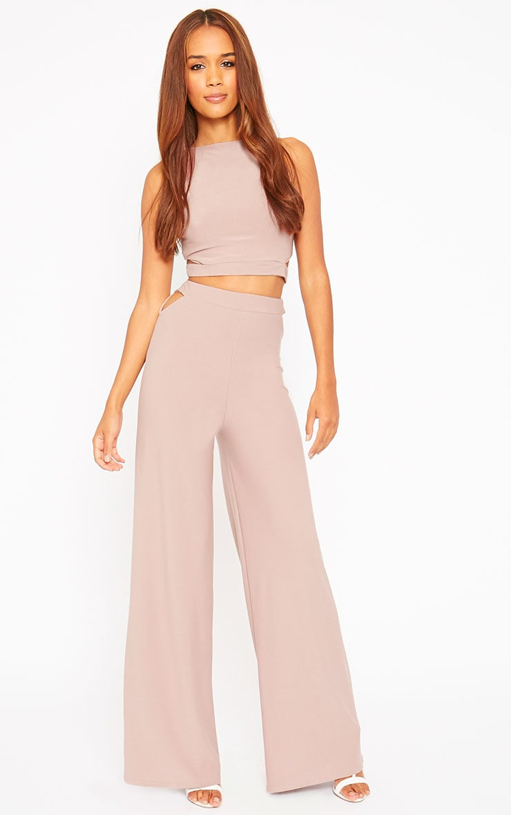 Elphina Dusty Pink Cut Out Palazzo Pants 1