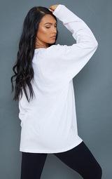 PRETTYLITTLETHING White International  Long Sleeve T Shirt 2