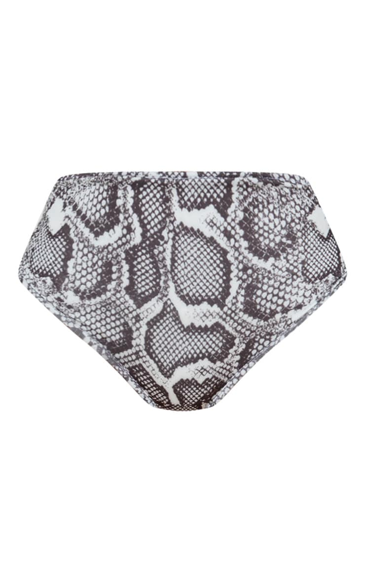 Snake Mix & Match High Waisted High Leg Bikini Bottom 1
