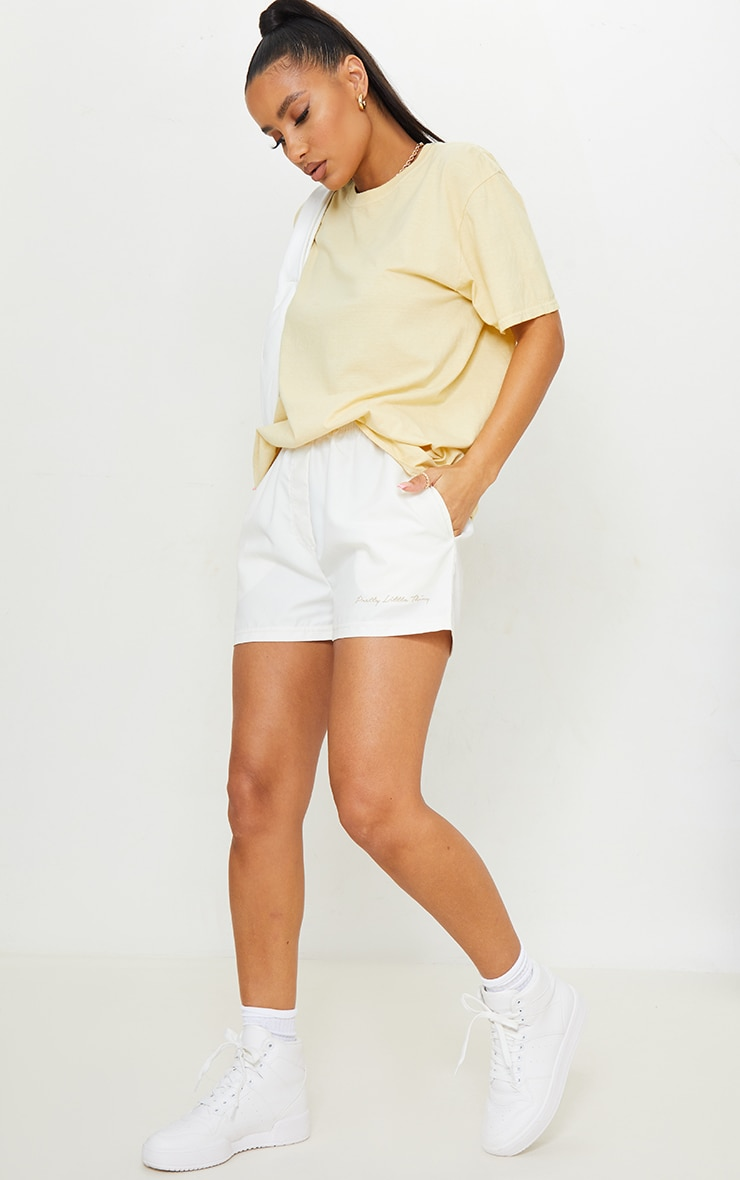 Pale Yellow Washed Oversized T Shirt 3