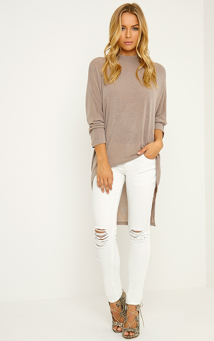 Reva Cream Ripped Skinny Jean 1