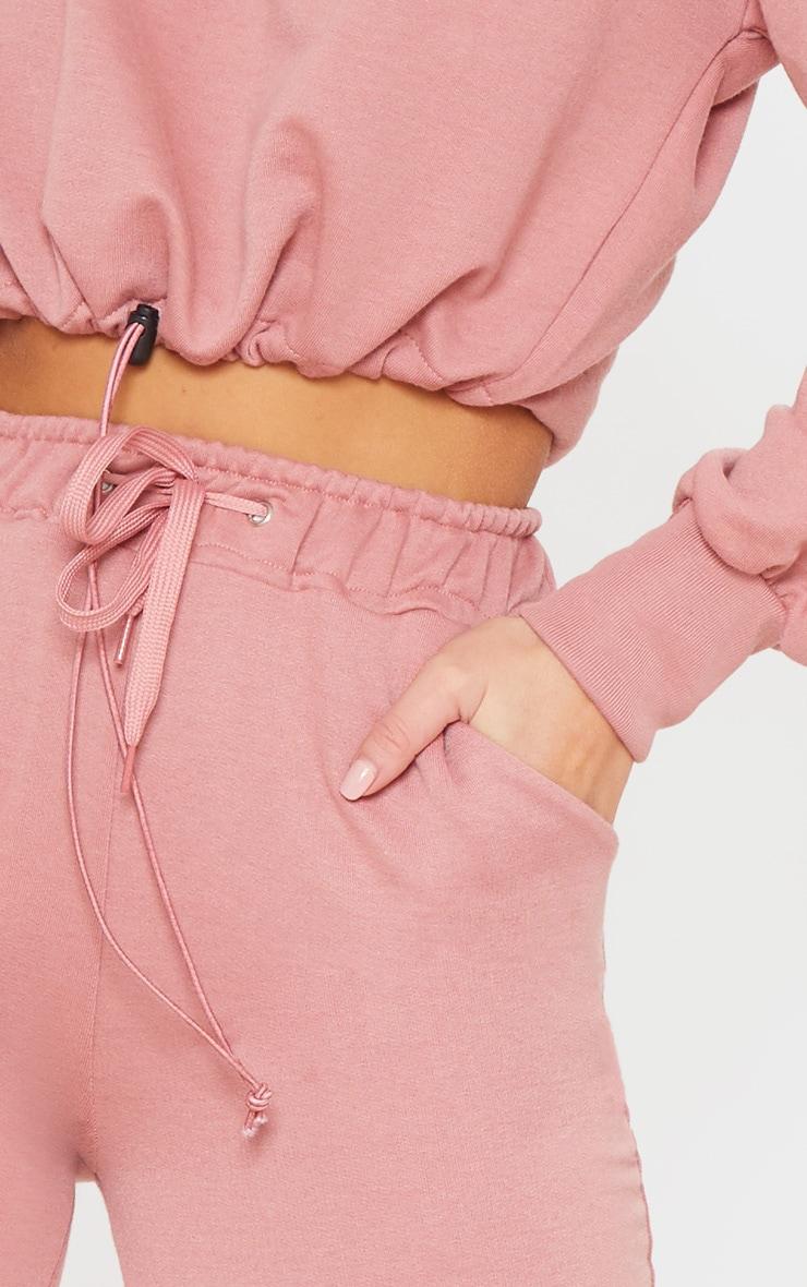 Dusty Pink Basic Gym Sweat Jogger 4