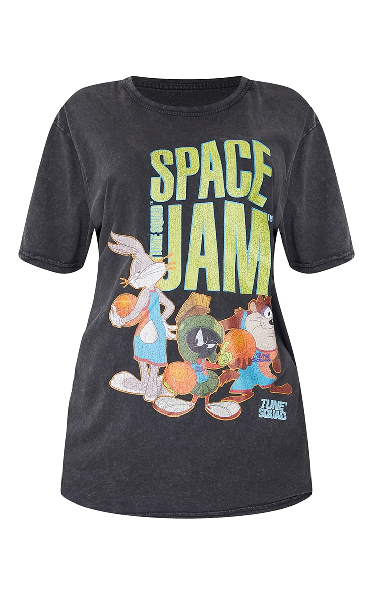 Charcoal Space Jam Tune Squad Washed T Shirt 5