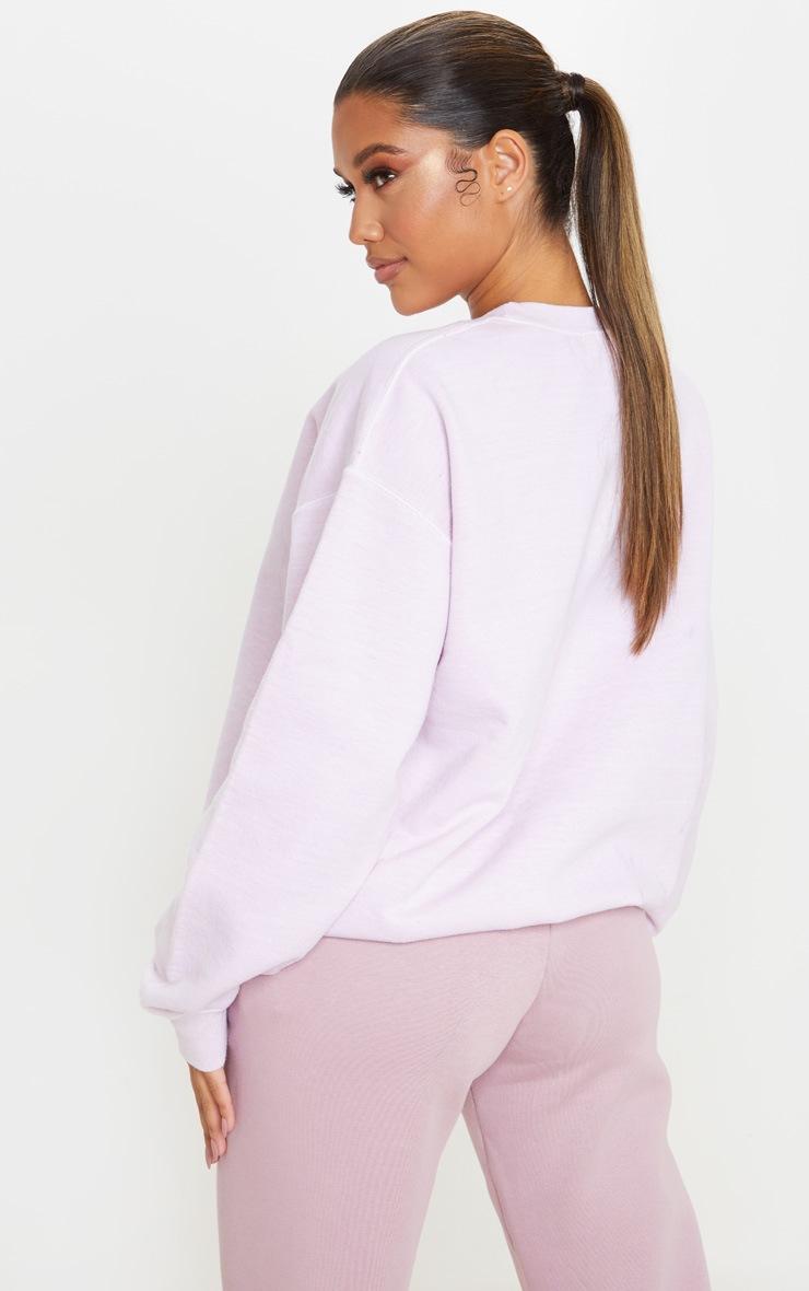 Blush Washed Oversized Sweater 2