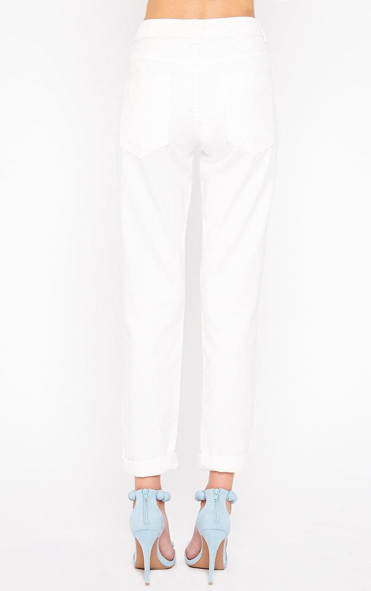 Kada White Extreme Rip Jeans 4
