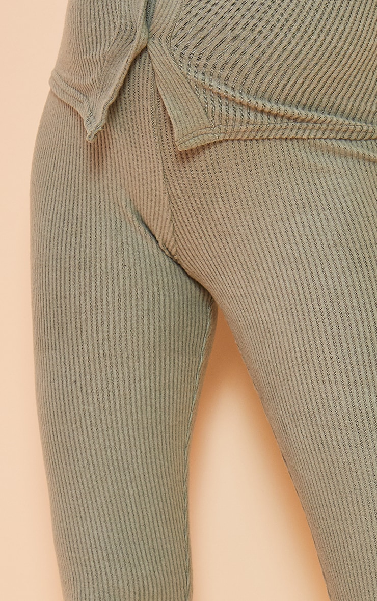Maternity Sage Green Brushed High Waisted Leggings 4