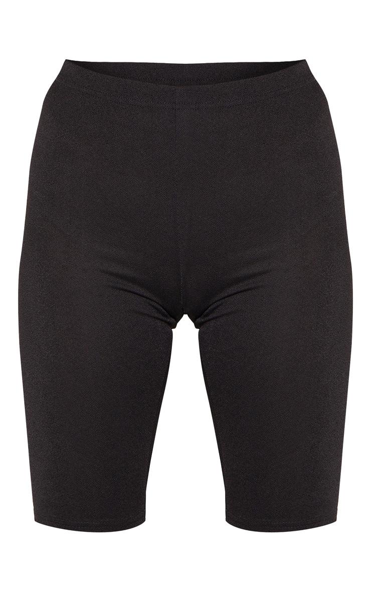Tall Black Stretch Crepe Cycling Shorts 3