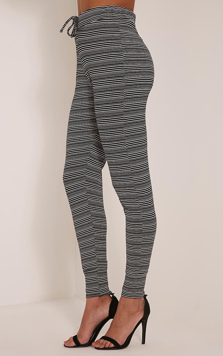 Tamia Black Stripe Joggers 4