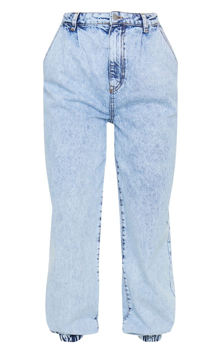 Acid Blue Wash Cuffed Extreme Jogger Jeans 5