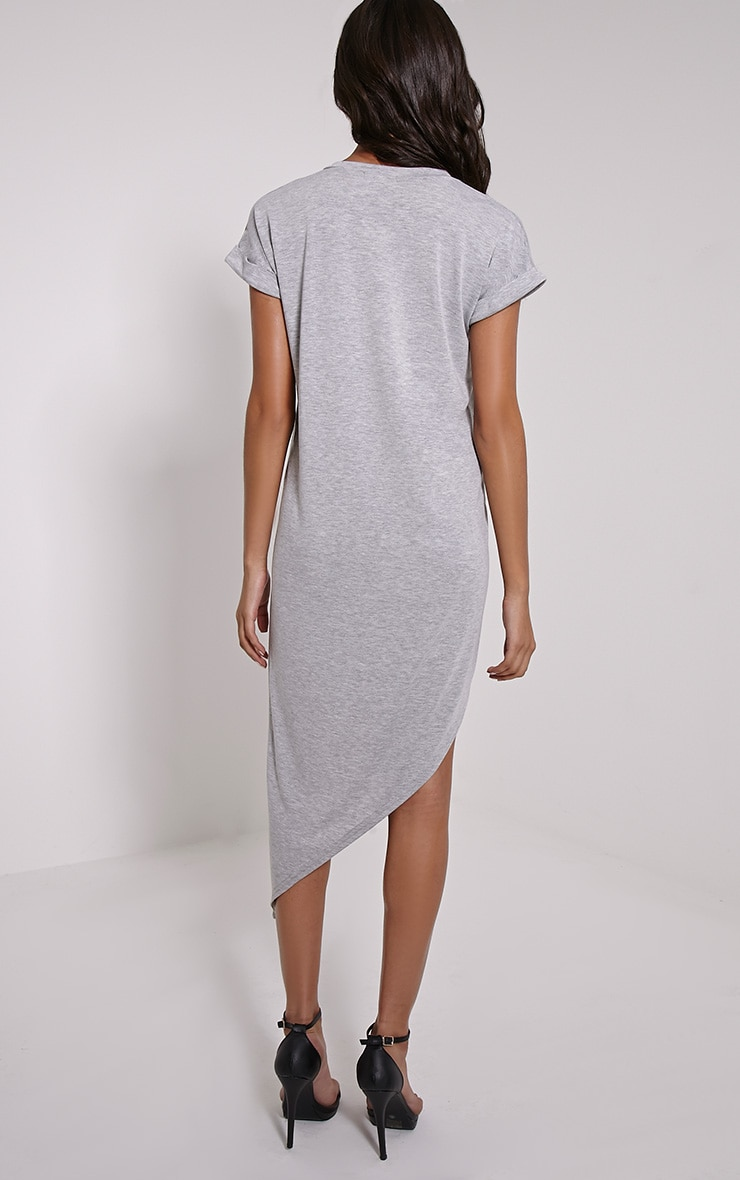 Nolah Grey Asymmetric T-Shirt Dress 2