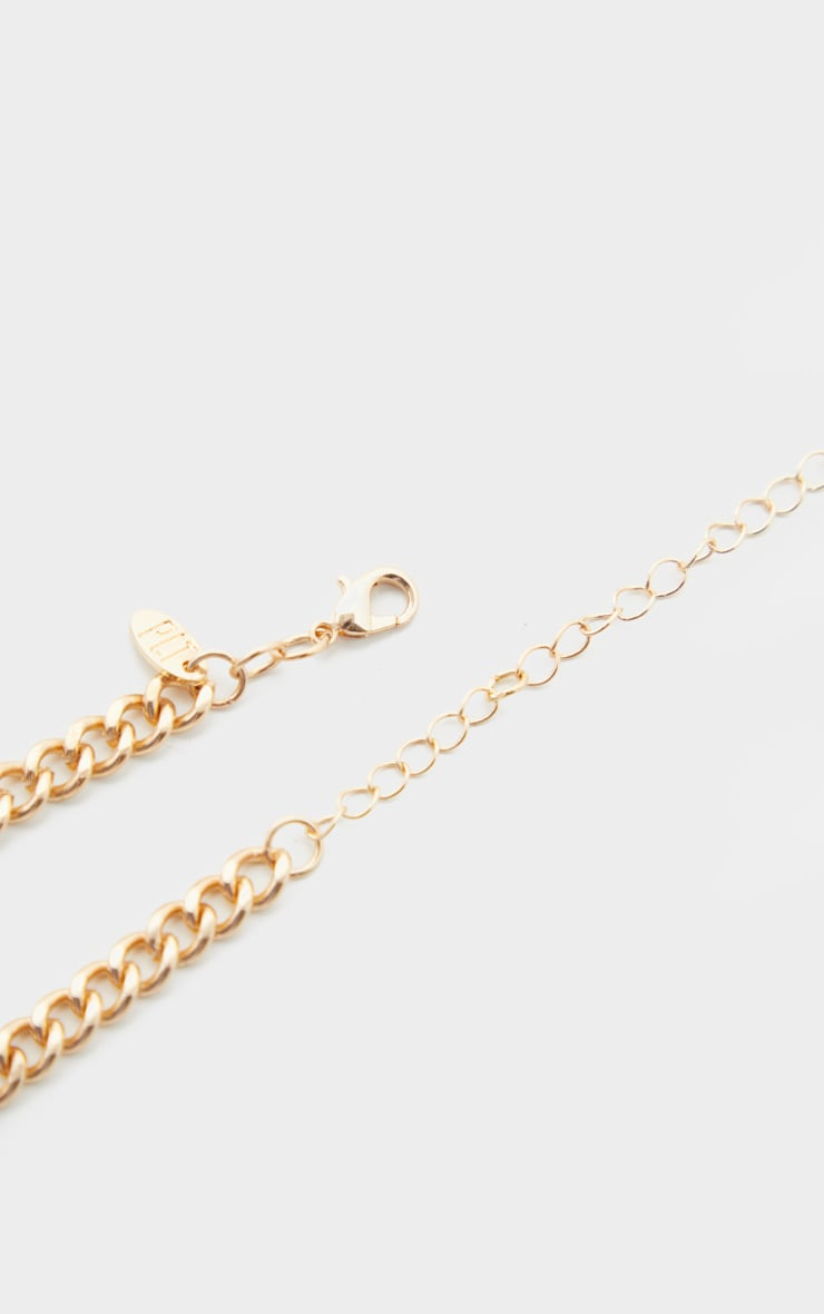 Gold Diamante Dollar Sign Choker 4