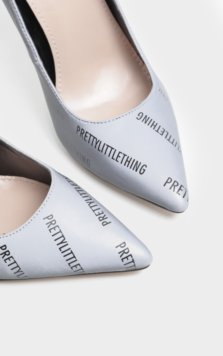 PRETTYLITTLETHING Reflective Court Shoes 4