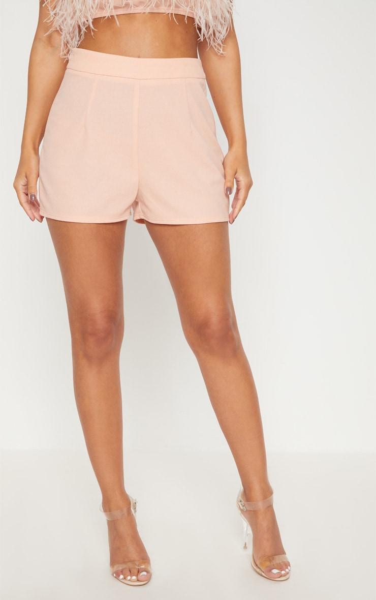 Petite Nude High Waist Shorts 2