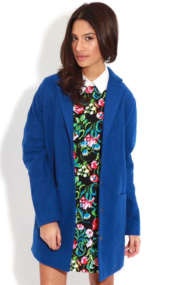 Hope Cobalt Oversized Boyfriend Blazer Coat  1
