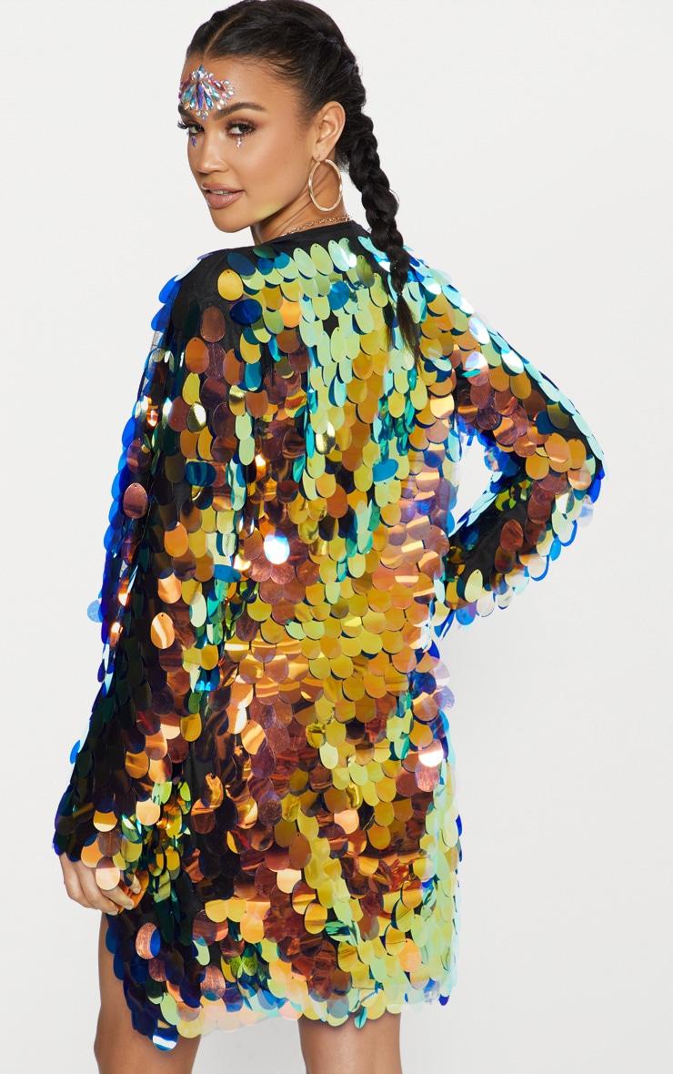 Kimono à gros sequins irisés  2