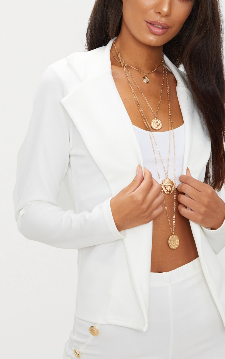 Cream Crop Blazer 5