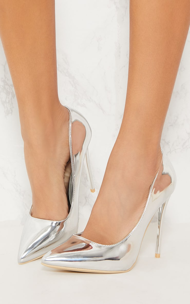 dirt cheap in stock cheap Silver Patent High Court Shoes