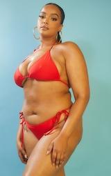 Recycled Plus Red Mix & Match Tie Side Bikini Bottom 2