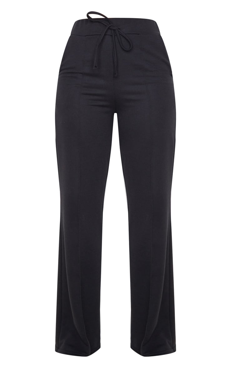 Black Wide Leg Track Pants 3