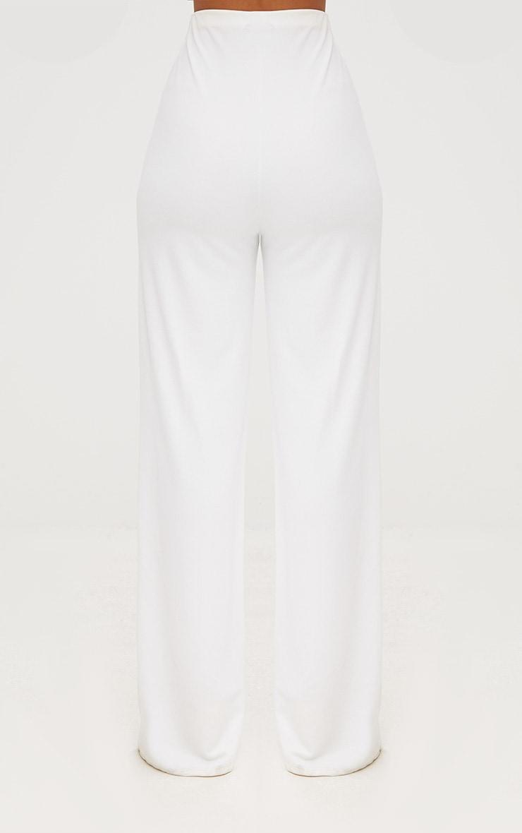 White High Waisted Wide Leg Pants  5