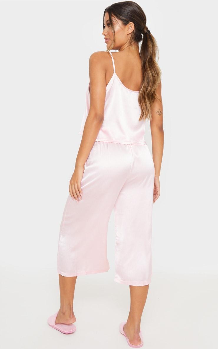 Light Pink Culotte And Cami PJ Set 2
