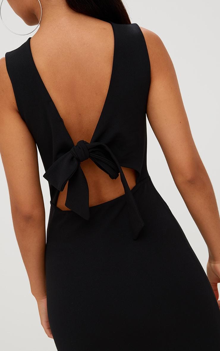 Black Bow Back Bodycon Dress 4